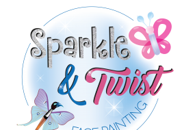 Sparkle and twist face painting