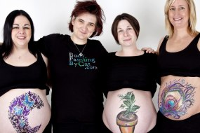 Baby bump prenatal body art face painting Bath Bristol