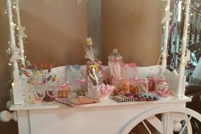 Wedding candy cart
