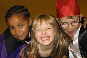 kids having fun at a froggle party