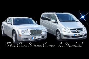 Chrysler 300C Executive Saloon and luxury 7-passenger Mercedes Viano