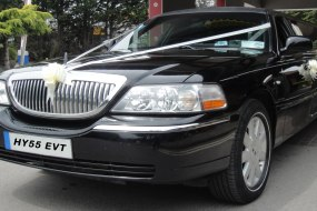 Black Lincoln Stretched Limousine