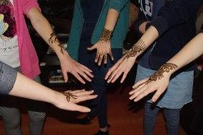 teenage part with henna