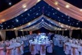 Marquee with drape lining for hire