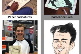 Paper & Ipad Caricatures