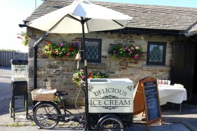 Derbyshire Ice Cream Bike 07551 756355 popcorn hire Fox & Goose Inn wedding