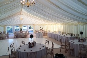 Wedding layout with white dance floor