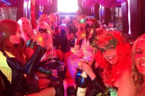 Interior of party bus hen party