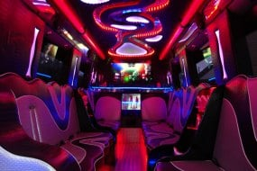 Interior of Party bus 16 seater