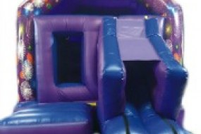 Slide bouncy castle