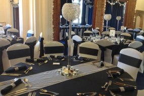 hire crystal globe centrepieces