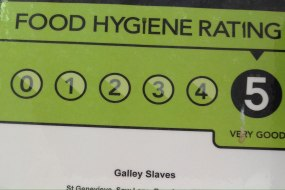 Trust us for your event with 5* hygiene rating and a professional efficient service