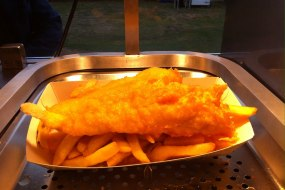 cod and chips from our mobile fish and chip van.