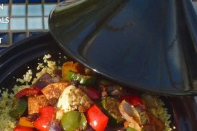 Vegetarian Tagine with couscous