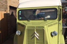 Vintage mobile food van