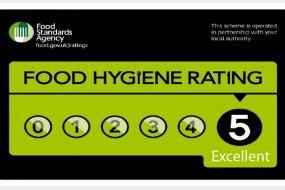 Claridge's Catering 5 Star Hygiene Rating