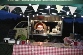 Twinkling lights, crackling wood fire and delicious pizza