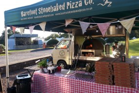 Wood-fired pizza at a music festival in North Somerset