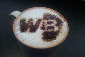 Custom coffee stencil