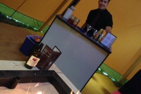 Wedding tepee bar