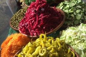 Street food Persian chicken wrap