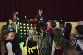 halloween, children's party, disco and games, entertainer