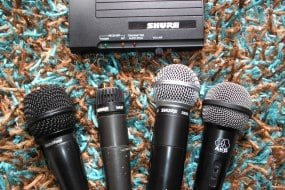 A Set Of Stage Microphones