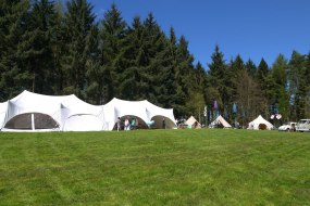 2 x Capri Marquees at a Wedding Fayre in Bradfield