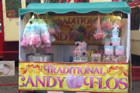 Candy Floss, Popcorn, Donut Stall