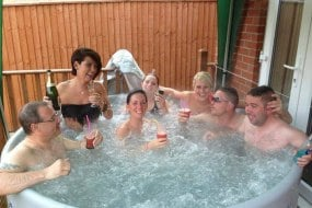 Perfect hot tub to hire for parties