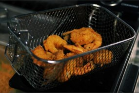 Crisp 'n' Fire Prawns straight out of the fryer