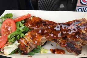 Flame grilled sticky ribs