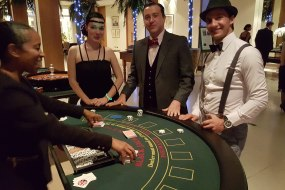 Blackjack table and Croupier for hire
