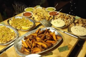 An example of our hot and cold fork buffets
