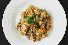 Butternut squash and bacon quinoa