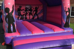 Pink & Purple Disco Bouncy Castle