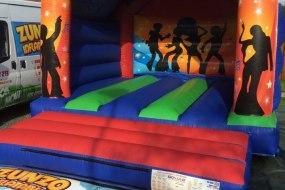 Orange Disco Legends Bouncy Castle