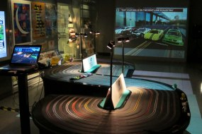 8 lane Giant Scalextric track with computerised start and timing system