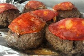 MYO Burgers with Chorizo & Mozzarella