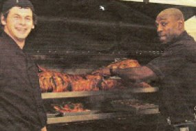 Frank Bruno catering Hog roast