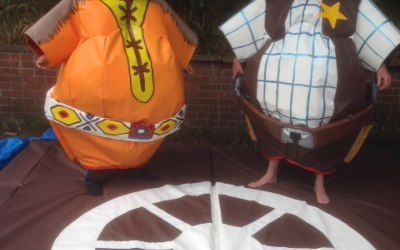 sumo wrestling suits hire St Helens, Wigan, Warrington, Widnes, Leigh and more!