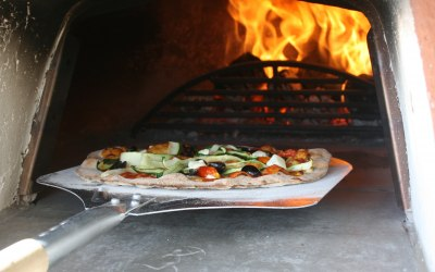 Artisan, wood-fired pizza
