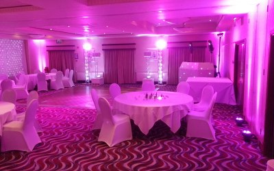 Up Lit Pink Room with coloured lighting units