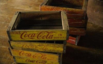 Genuine US Coca-Cola boxes..