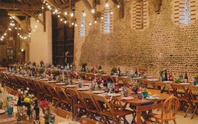 Lovely barn style wedding we supplied in Norfolk