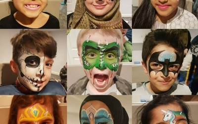 Face paint designs happy faces bingley
