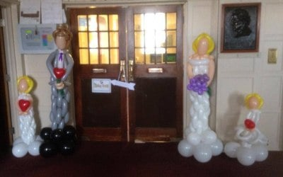 life size bride and groom balloon