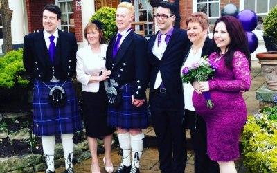 Stunning Cadbury purple wedding