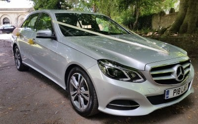 Silver Mercedes-Benz E-Class Wedding Car