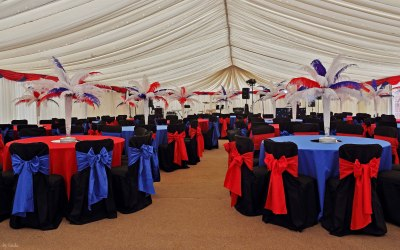 A company summer ball marquee